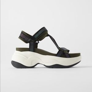 ZARA thick soled athletic sandals